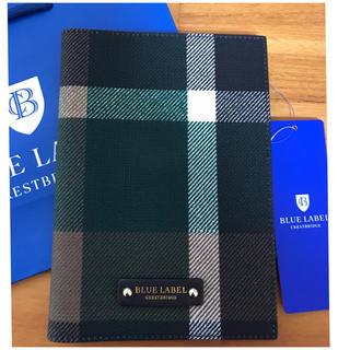 【新品】ブルーレーベル クレストブリッジチェックPVC加工を施したノートカバー(その他)