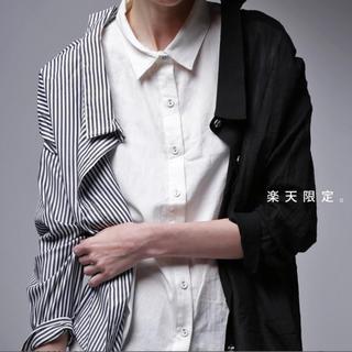 antiqua - アンティカ◆フェイクシャツ黒◆未使用品