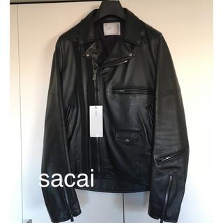 sacai - <美品>sacai サカイ カウレザー ダブルライダース