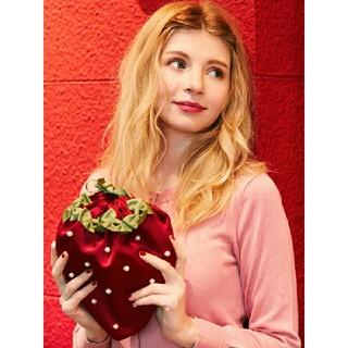 Maison de FLEUR - メゾンドフルール 新品 イチゴ 巾着 ポーチ いちご 苺