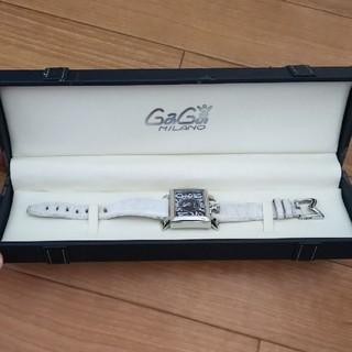 ガガミラノ(GaGa MILANO)のGaGa MILANO♡レディース腕時計ホワイト(腕時計)