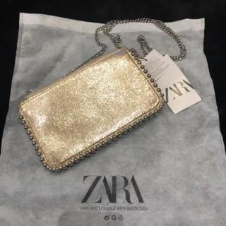 ZARA - ZARA ザラ スタッズ付き チェーン ウォレット ゴールド