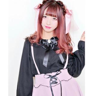 マーズ(MA*RS)の[SOLD OUT品]襟レースブラウス - ブラック (シャツ/ブラウス(長袖/七分))