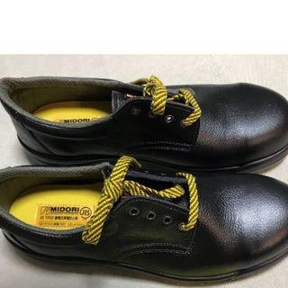 ミドリアンゼン(ミドリ安全)のミドリ安全 安全靴 27センチEEE ブラック 未使用(ブーツ)