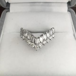 ダイヤモンド V字 リング Pt900 1.02ct 6.6g(リング(指輪))