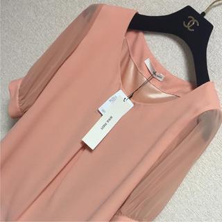 新品 ROYAL PARTY シフォントップス/七分袖/とろみシャツ