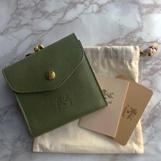 IL BISONTE - 【新品未使用】  イルビゾンテ  二つ折財布  がま口  OLIVA オリーブ