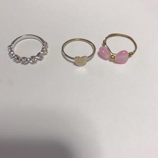 ☆叶愛様専用☆ ピンキーリング&リボンイヤリング(リング(指輪))