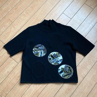 トクコプルミエヴォル(TOKUKO 1er VOL)のトクコプルミエヴォル 半袖ニット 美品(ニット/セーター)