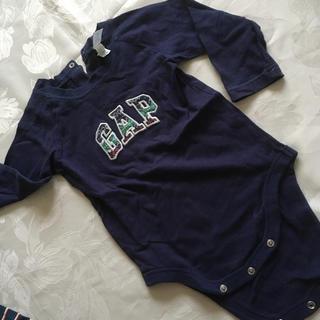 babyGAP - ギャップ 紺 ロンパース80
