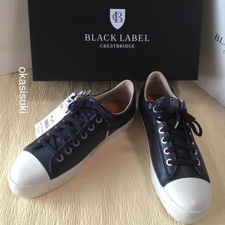 ブラックレーベルクレストブリッジ(BLACK LABEL CRESTBRIDGE)のブラックレーベルクレストブリッジ  レザースニーカー 25.5 新品 タグ付(スニーカー)
