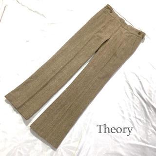セオリー(theory)のセオリー シルク混 ヘリンボーン ウール パンツ S(カジュアルパンツ)