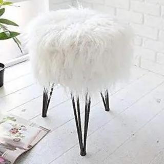フランフラン(Francfranc)のファースツール クッション  新品同様 定価12.000 チェア 椅子(スツール)