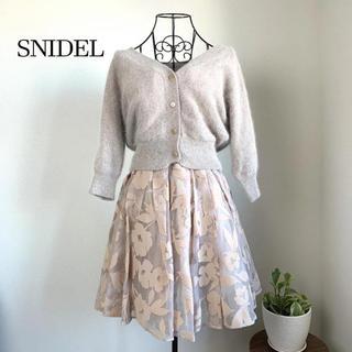 snidel - 【美品】 スナイデル フロッキーオーガンコンビワンピース
