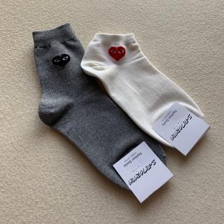 コムデギャルソン(COMME des GARCONS)の❤️ハート靴下♥️2足セット(ソックス)