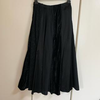 コムデギャルソン(COMME des GARCONS)のトリココムデギャルソン 異素材フレアスカート美品(ロングスカート)