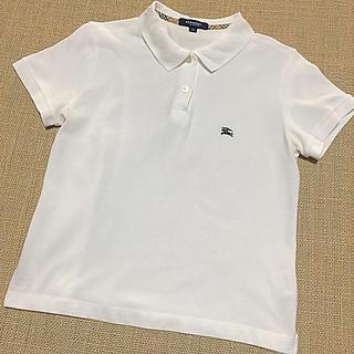 BURBERRY - 美品 バーバリー コットン ポロシャツ 白 38