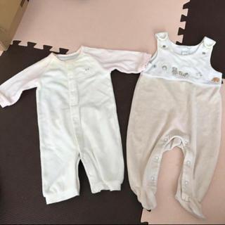 H&M - コムサ H&M 長袖カバーオール ロンパース 女の子 新生児 50 60