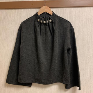 ダブルクローゼット(w closet)のパールモチーフ付きプルオーバー(カットソー(長袖/七分))