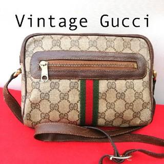 Gucci - 希少!オールドグッチ シェリーライン ビンテージショルダーバッグ 正規品