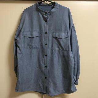 ダブルクローゼット(w closet)の☆w closet☆【Alley】スタンドカラーフラップポケットBIGシャツ(シャツ/ブラウス(長袖/七分))