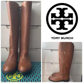 トリーバーチ(Tory Burch)のトリーバーチ  ブラウンレザー   アイコン ロングブーツ(ブーツ)
