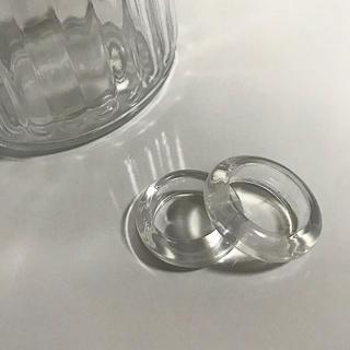 クリア リング 透明 指輪 クリアアクセサリー ぷっくり 氷リング