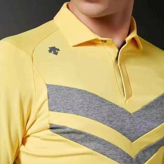 DESCENTE - XL 新品 定価16200円 デサントゴルフ ストレッチ 長袖ポロシャツ