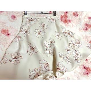 トランテアンソンドゥモード(31 Sons de mode)のトランテアン 花柄ミニスカート (白)(ミニスカート)