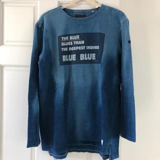 ブルーブルー(BLUE BLUE)のブルーブルー HRM ロングTシャツ インディゴ(Tシャツ/カットソー(七分/長袖))