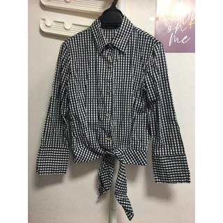 チュー(CHU XXX)のギンガムチェックシャツ 韓国(シャツ/ブラウス(長袖/七分))