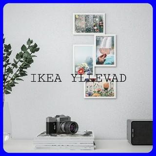 イケア(IKEA)のIKEA YLLEVAD コラージュフレーム ホワイト 写真4枚用(フォトフレーム)