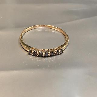K18 ブラウン ダイヤモンド ダイヤ リング 指輪(リング(指輪))