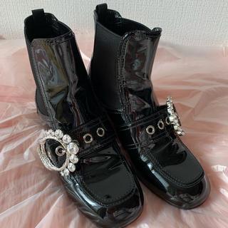 miumiu - 美品 miumiu ミュウミュウ ブーツ 靴 ビジュー 24.5 25 39