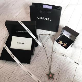 CHANEL - 【CHANEL】 星型 イヤリング ネックレス セット