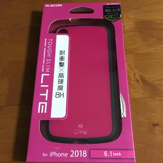 エレコム(ELECOM)のiPhoneXR ケース TOUGH SLIM LITE 耐衝撃 ピンク(iPhoneケース)