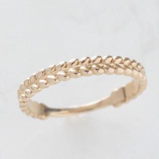アガット(agete)のノワールドプーペ  K10 リング(リング(指輪))