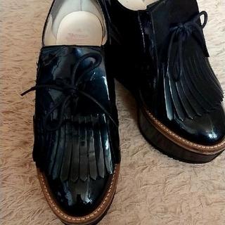 ヴィヴィアンウエストウッド(Vivienne Westwood)のヴィヴィアン エナメル 厚底(ローファー/革靴)