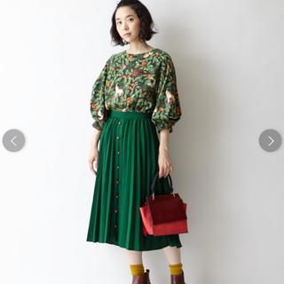 フリフ(ふりふ)の秘密の園 プリーツスカート(ひざ丈スカート)