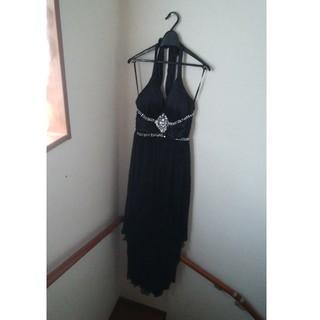 デイジーストア(dazzy store)の②キャバ  ロングドレス ワンピース キャバドレス 黒  リッチオアダイ  (ナイトドレス)