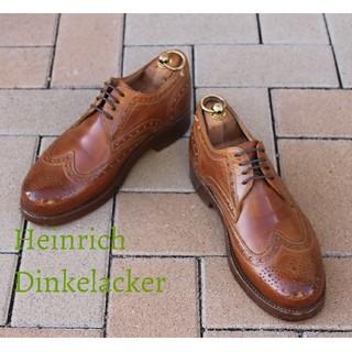 貴重美品ハインリッヒディンケラッカー#6リオ迫力のトリプルソール東欧靴