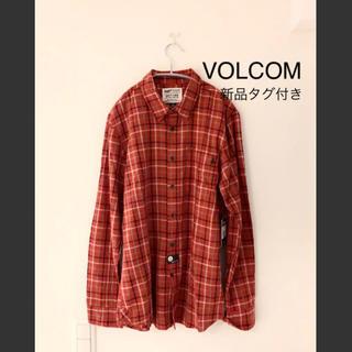 ボルコム(volcom)の新品タグ付き ボルコム  チェックシャツ M VOLCOM(シャツ)