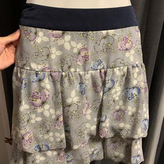 アールユー(RU)の新品同様 春夏向け ru 花柄スカート(ひざ丈スカート)