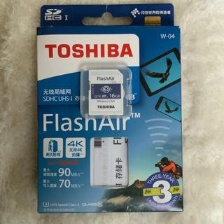 トウシバ(東芝)のFlash Air 16GB W-04(PC周辺機器)