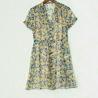 ANNA SUI - タイムセール!新品タグ付★アナスイ★木の実柄シルクシャツワンピース