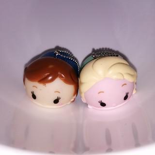アナトユキノジョオウ(アナと雪の女王)のアミューズメント景品 アナと雪の女王2 マスコットチャーム 2個セットA(キャラクターグッズ)