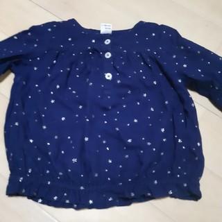 ベベノイユ(BEBE Noeil)の星柄 ふんわり長袖 女の子 100(Tシャツ/カットソー)