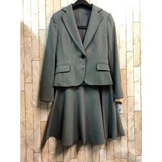 新品☆3号プチ♪ グレー無地系のスカートスーツセット♪洗える☆s853(スーツ)