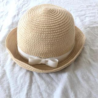 プチバトー(PETIT BATEAU)のPETIT BATEAU ストローハット 麦わら帽子(帽子)