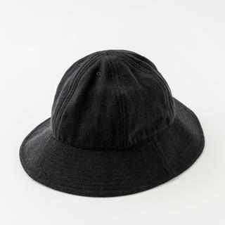 コモリ(COMOLI)のComoli 20ss Silk Nep Hat (Black)(ハット)